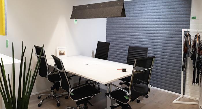 akustiikkalevyt seinään kattoon sisustus akustointilevyt