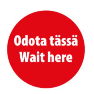 Odota tässä -tarra, Kuopion Takuutarra